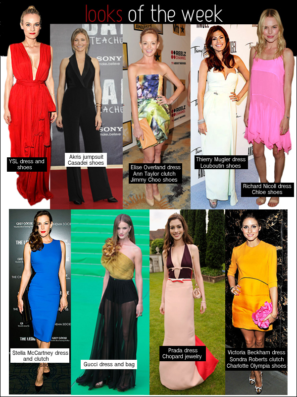 looks of the week, liv tyler stella mccartney, kate bosworth richard nicoll, cameron diaz akris