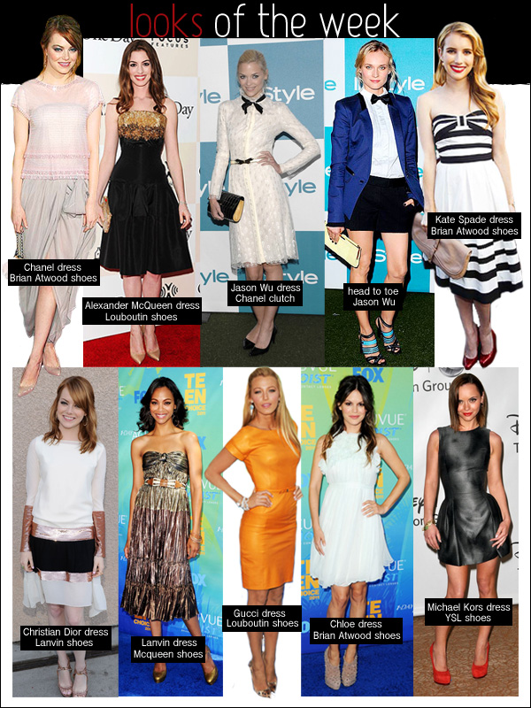 looks of the week, blake lively gucci, emma stone chanel, diane kruger jason wu