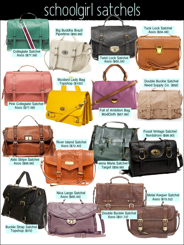 satchels, cambridge satchel, mulberry alexa, proenza schouler PS1