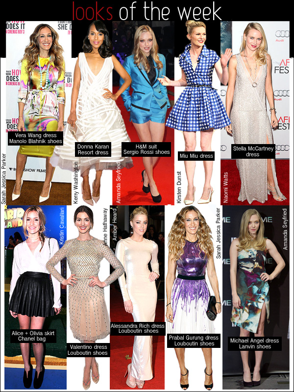 amanda seyfried H&M, sarah jessica parker prabal gurung