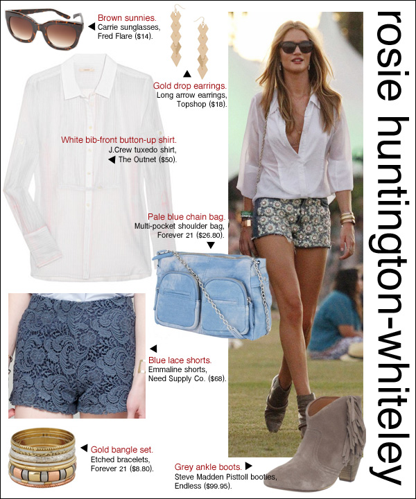 rosie huntington whiteley style, rosie huntington whiteley coachella