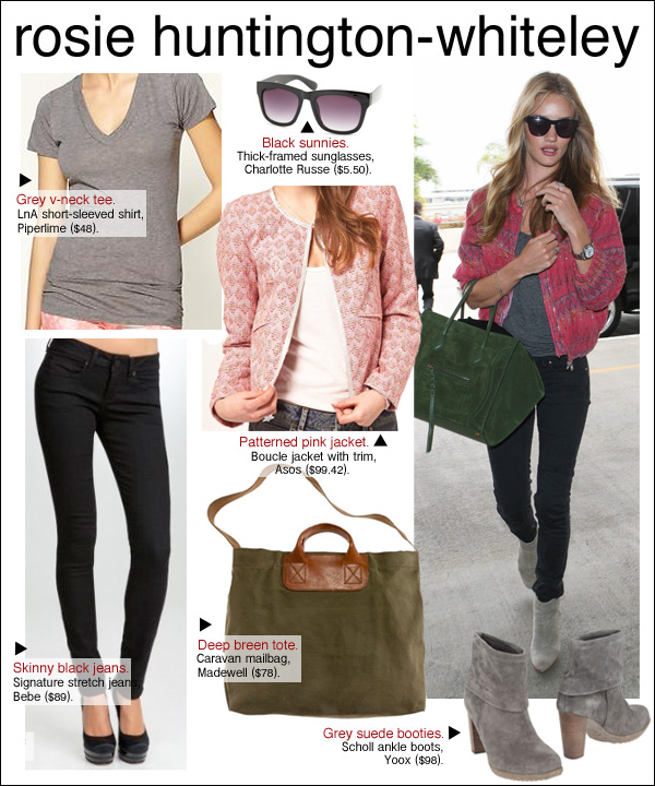 rosie huntington-whiteley style, rosie huntington-whiteley LAX, rosie huntington whiteley airport style