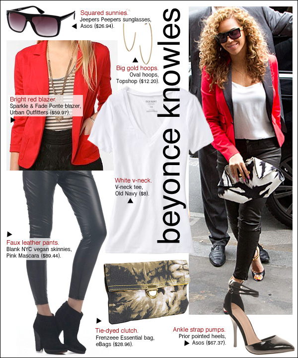 beyonce red tuxedo jacket, beyonce chris martin gwyneth paltrow, beyonce paris