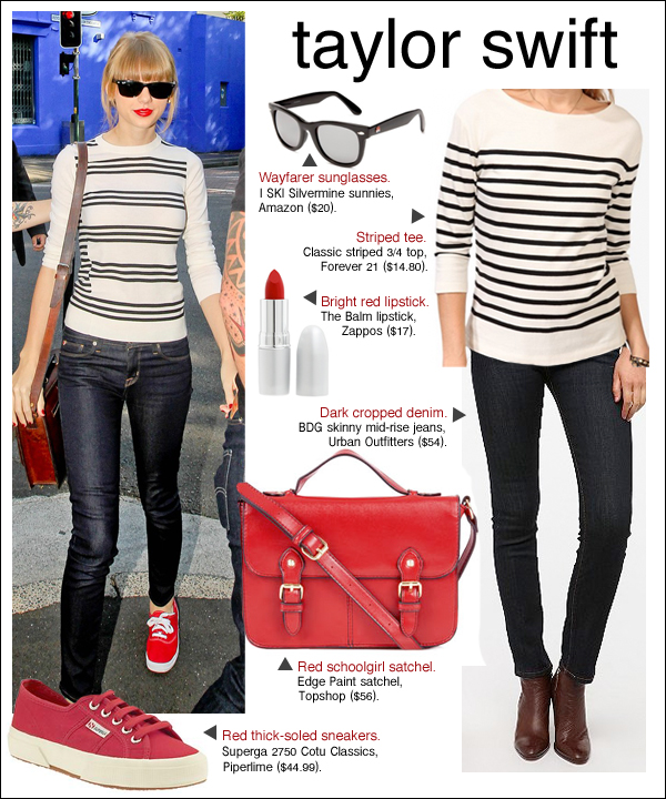 taylor swift style, taylor swift red, taylor swift stripes