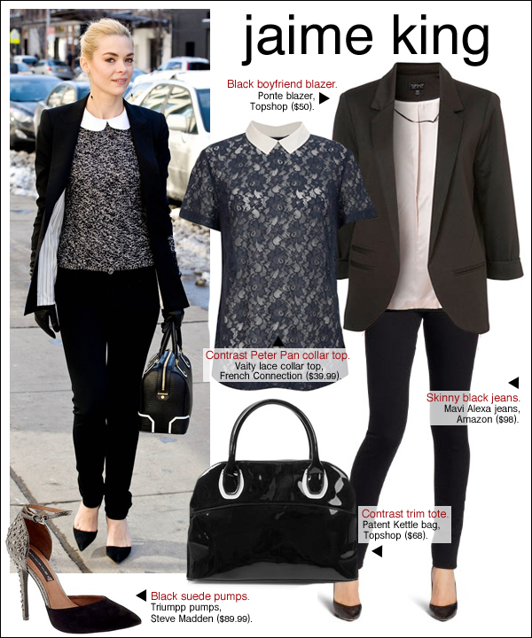 jaime king style, jaime king new york fashion week