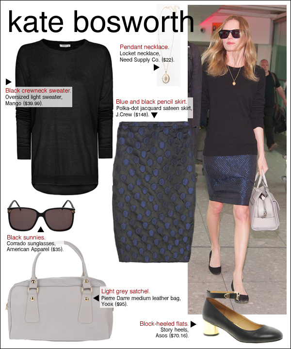 kate bosworth style, kate bosworth michael polish, kate bosworth heathrow