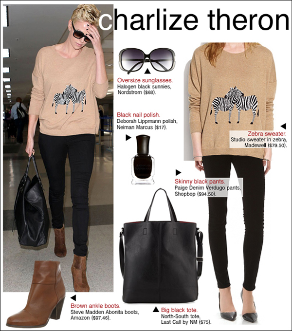 charlize theron madewell, charlize theron style, charlize theron hair