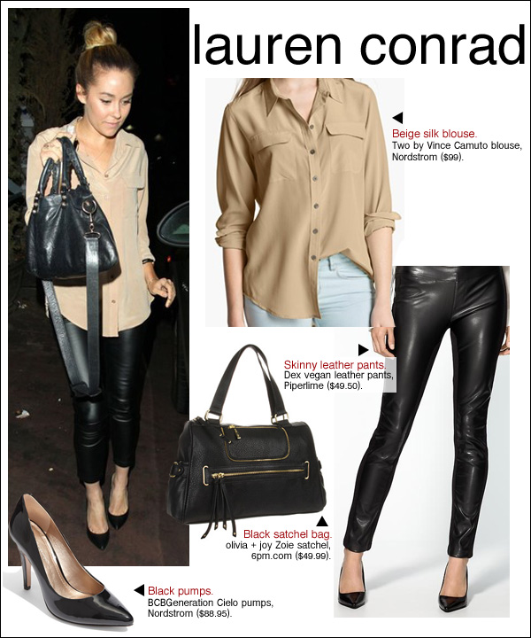 lauren conrad aventine, lauren conrad leather pants, lauren conrad hair