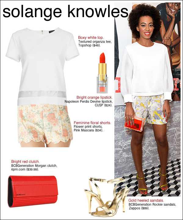 solange style, solange knowles shorts, solange knowles hair
