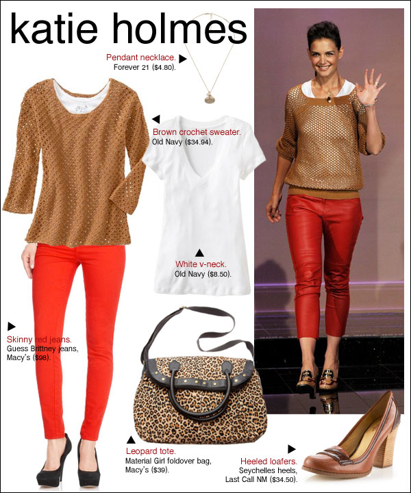 katie holmes tonight show, katie holmes isabel marant madewell