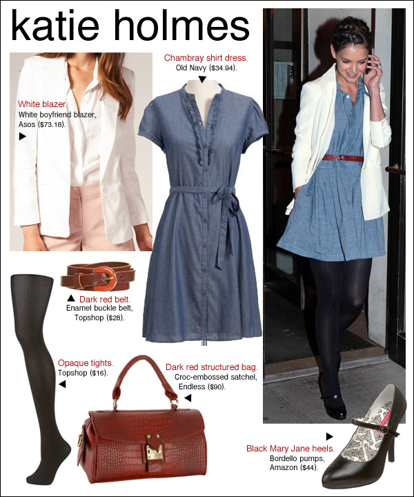 katie holmes chambray