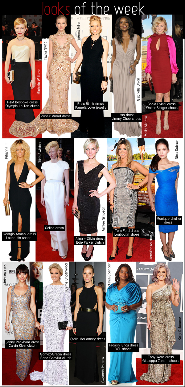 gwyneth paltrow stella mccartney, sienna miller pregnant, michelle williams h&m, rihanna armani