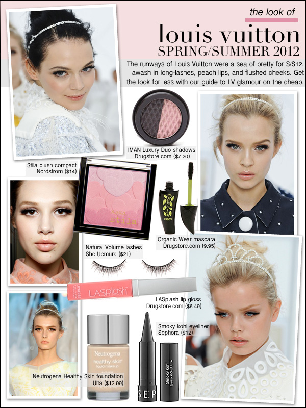 louis vuitton spring 2012, louis vuitton makeup, louis vuitton spring/summer 2012 back stage