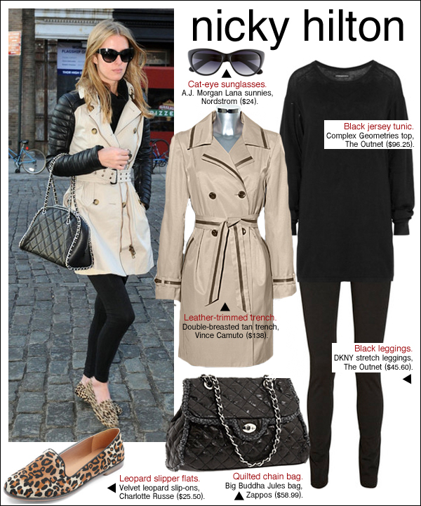 nicky hilton trench coat, nicky hilton burberry, nicky hilton style