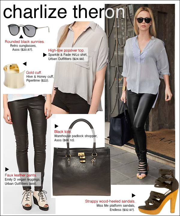 charlize theron leather pants, charlize theron style, charlize theron snow white