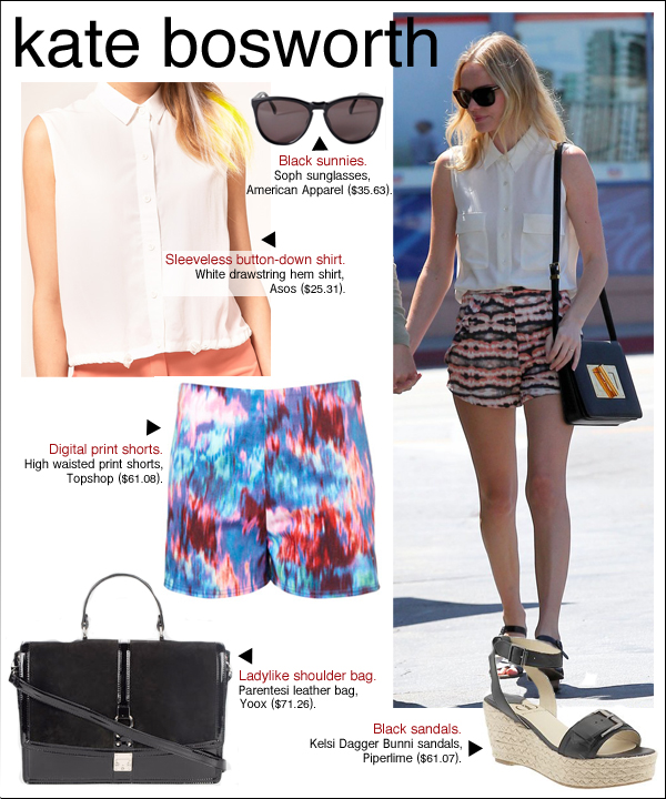 kate bosworth style, kate bosworth michael polish, kate bosworth shorts