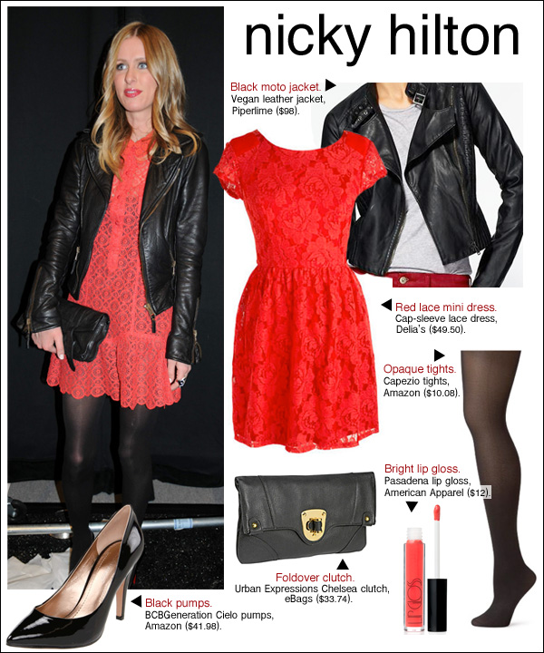 nicky hilton style, nicky hilton hair, nicky hilton leather jacket