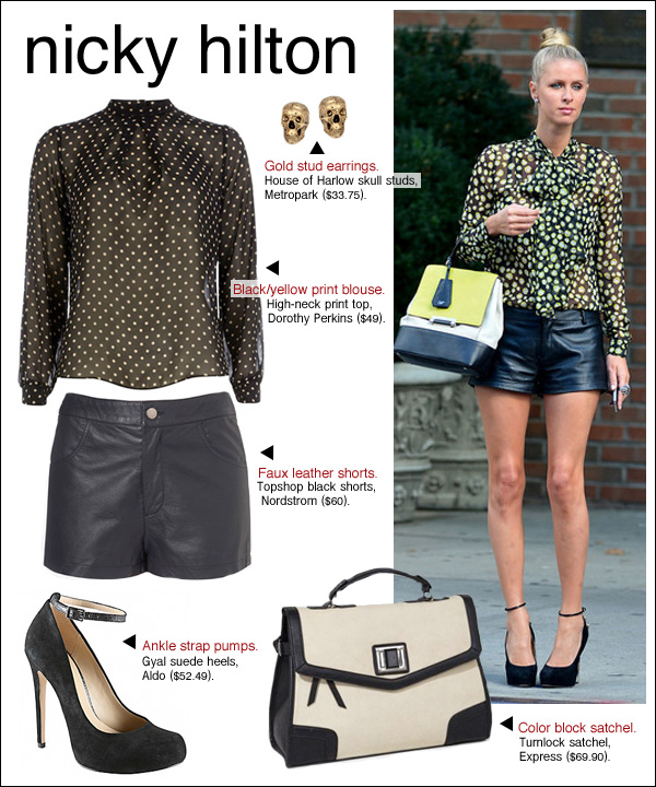 nicky hilton style, nicky hilton leather, nicky hilton leopard, nicky hilton hair