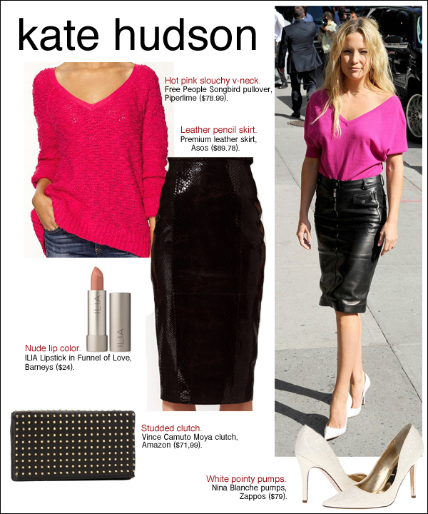 kate hudson david letterman, kate hudson new york, kate hudson style